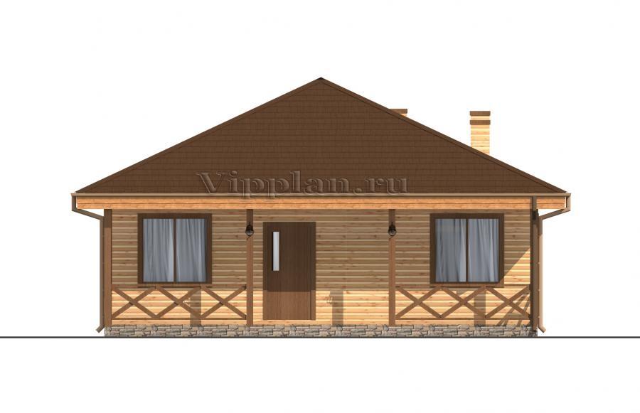 Проект маленького одноэтажного дома