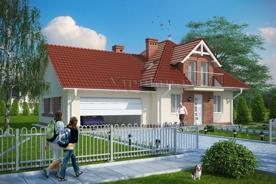 Проект небольшого уютного дома с