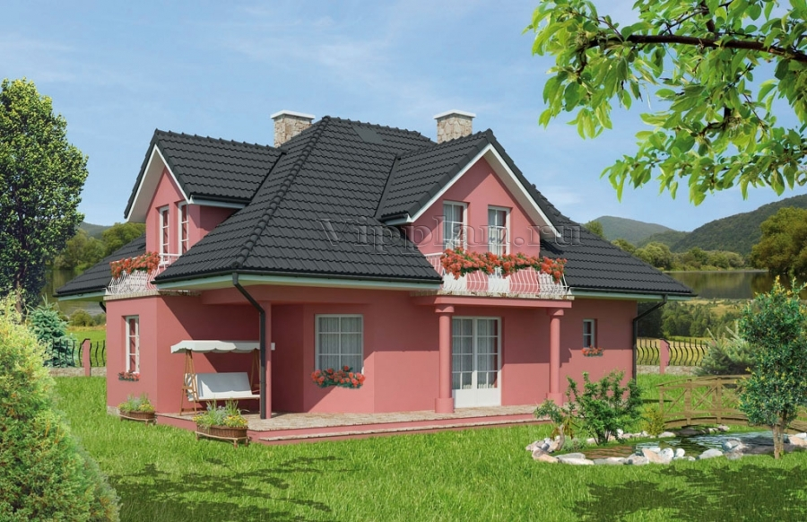 Проект уютного красивого дома с